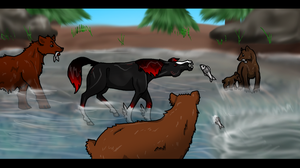 Fishing with Bears by Hippie30199