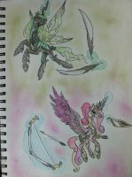 The great Equestria war : Chrysalis and Cadance by ultimate-galaxy