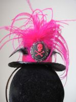 pink steampunk mini top hat by yinco