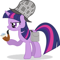 Detective Twilight by HornFlakes