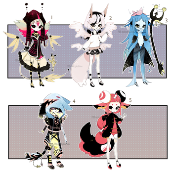 [CLOSED] ADOPT AUCTION 30 - multiple set by Piffi-adoptables