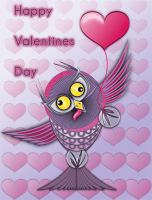 Retarded Owl Valentines card by Pepe09