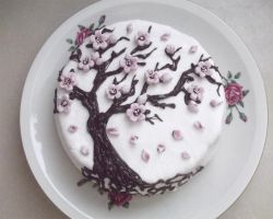 Sakura cake :) by pushis33