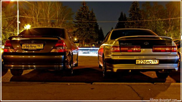 JZX100 and JZX110 Toyota MarkII by Fillimon