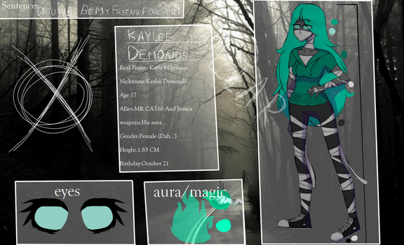 (CreepypastaOC) kaylee Demonds New Reference by kayleeDemondsNSA