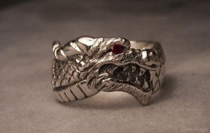Dragon head ring by Dans-Magic