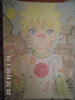 kid naruto playing with paint by teazuko