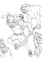 Adventure Time Manga Uncolored by Asten-94