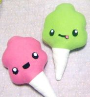 Cotton Candy Plushies by RyuuseiHime