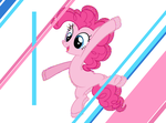 Pinkie Lines Jumping by FSkindness