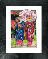Maiko Foxes by kowaigirl