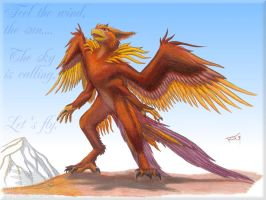 Muse, gryphon by Stratadrake