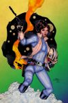 Colours on Terry Dodson's Princess Leia by hellbat