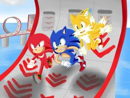 Doodle Sonic Heroes Team Sonic by GsSKY