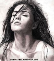 MEGAN FOX PENCIL SKETCH by wulfwood04