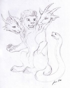 Sketch Request - Chimera by Jianre-M