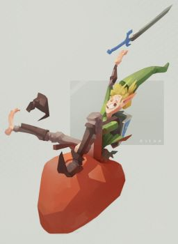 Link had one Hylian shroom to much... by sirallon