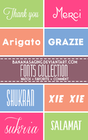 FONTS COLLECTION 003 ~Banana by BananaSaging