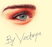 miley cyrus Realstic Eye by Wad0nnaART