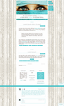 Blogspot template Blue eyes by MySensitiveHeart