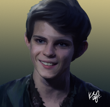 Peter Pan (Once Upon a Time) Digital Painting by rainingonsunday21
