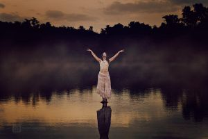 My dreams fly over black water by olivier-ramonteu
