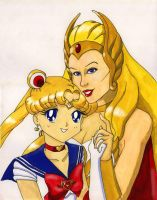 She-Ra and Sailormoon by Jenphi
