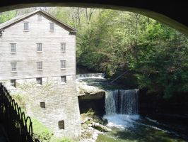 The old mill in the park by ashumz1122