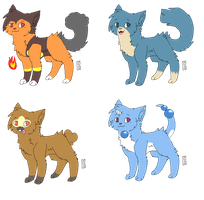 Pokemon Themed Adopts! (OPEN) by SNlCKERS