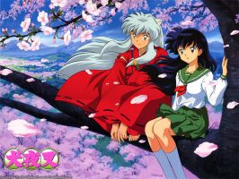 inuyasha e kagome by 6blackbe