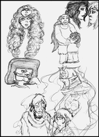 Sketches August 31 2015 by LoveOrMadness