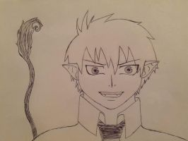 Rin Okumura with tail by mary8dash