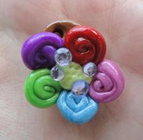 Colourful Flower Pendant by Lucky101212
