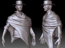 Eastwood-Blondie Zbrush Update 12-20 by FoxHound1984