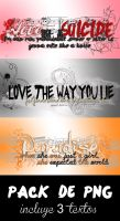 Textos PNG - Pack 2 by LoveDanceFlawless