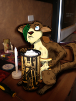 He almost tipped the coffee... by Tifa-the-Strange
