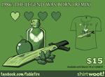 Woot Shirt - 1986 The Legend Was Born (Remix) by fablefire