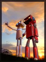 Robots in love. by Maxiriton