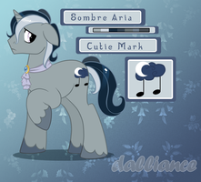 MLP OC: Sombre Aria by SILK-RIBBON