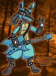 Gothic Lucario, Black Metal v2 by MikeGTS