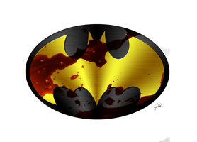 Batman Logo Chrome by KellCandido