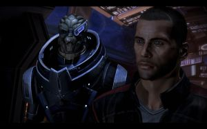 Garrus and Shepard by donabruja