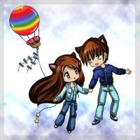 Melle and Andy Chibis commish by Bastet-sama