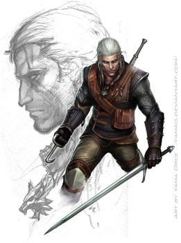 The Witcher 2-Geralt by YamaOrce