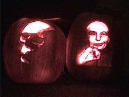 skull and DrEvil pumpkins by kennysback