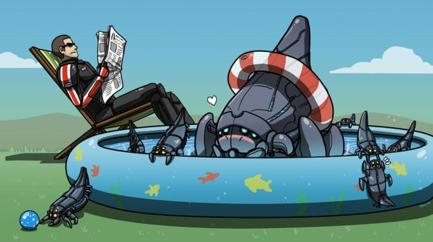 Mass Effect 3 - Baby Reapers by PepperBug