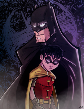 Wayne and Grayson. by JeffMyles