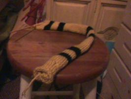 Hufflepuff scarf In Progress by zendevil