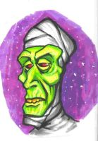 Mummy Ghoul Marker Doodle by JollyGorilla