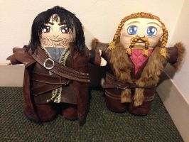 Kili and Fili of The Hobbit by FlukeOfFate